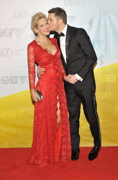 Host Michael Buble and wife Louisana Lopilato.  CARAS/iPhoto