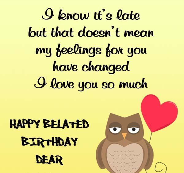 Belated Anniversary Wishes Quotes: 12 Best Belated Birthday Images On Pinterest