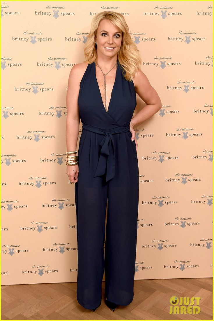 Britney Spears rocks a plunging jumpsuit while attending the launch of The Intimate Britney Spears lingerie collection  in London