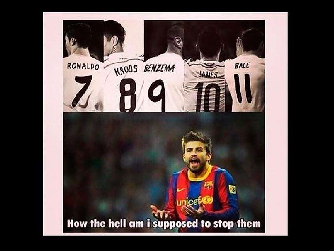 James Rodriguez Real Madrid meme #Pique