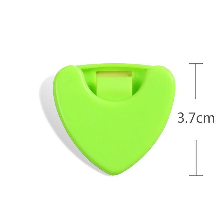2016 caliente pequeña caja hermosa selección de la guitarra 7 de color 3.6 cm de alta calidad de material plástico caja de Accesorios de Guitarra selecciones de la guitarra cajas
