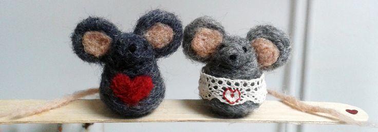 The <3 mice needle felt