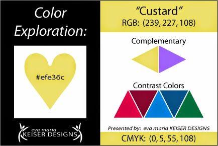 Eva Maria Keiser Designs Explore Color:  Custard
