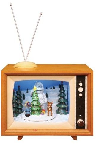 $169.99 - Roman 'Rudolph' Musical Tv Decoration - A classic Christmas scene comes to life with this light-up diorama featuring festive music and a rotating display with Rudolph, Hermey the elf and the Bumble. Brand: Roman. Style Name:Roman 'Rudolph' Musical Tv Decoration. Style Number: 1132747. Available in stores. Batteries not included Resin/plastic By Roman; imported