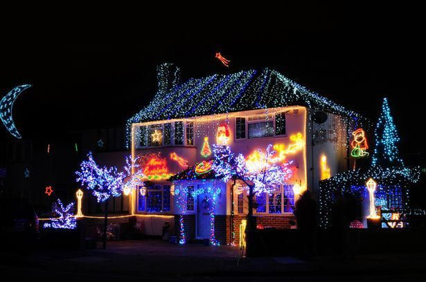 Decorating Home Interior Designing Houses Christmas Lights