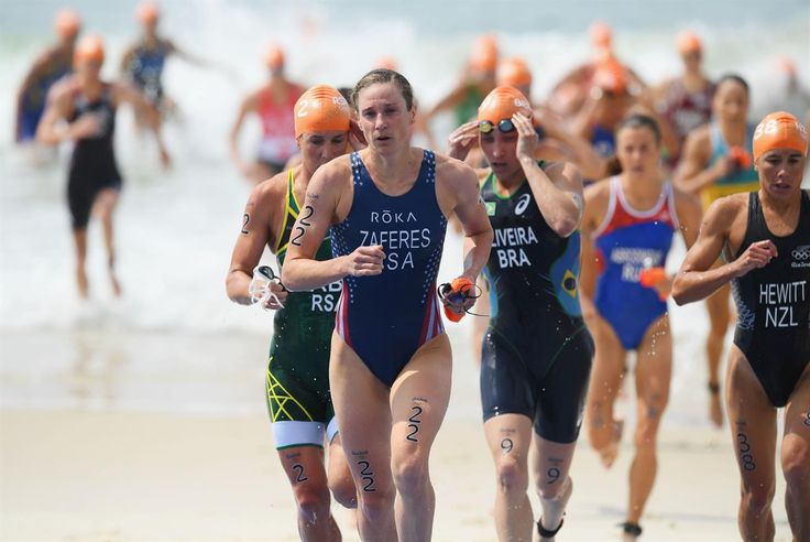 RIO DE JANEIRO, BRAZIL - AUGUST 20: Helen Jenkins (15) of Great Britain and Sarah True (21) of the United States ride during the Women's Triathlon on Day 15 of the Rio 2016 Olympic Games at Fort Copacabana on August 20, 2016 in Rio de Janeiro, Brazil.  (1345×900)