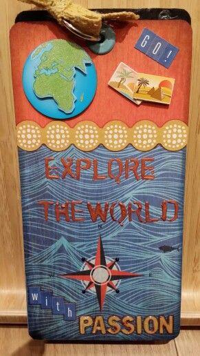 Tag Explore the world. Ann Friks Original.