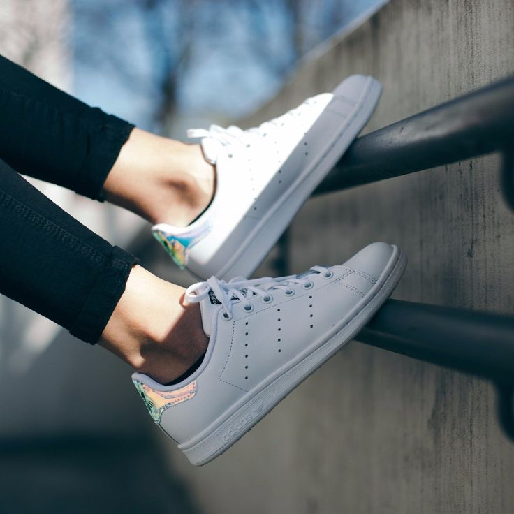 adidas originals junior stan smith trainers in iridescent white nz
