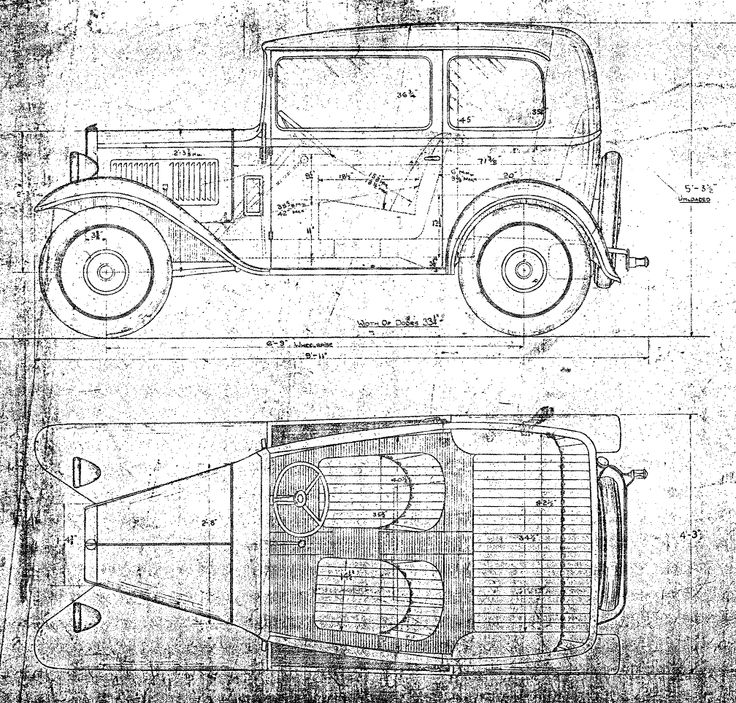 Box saloon drawing with dimensions (large file size!)