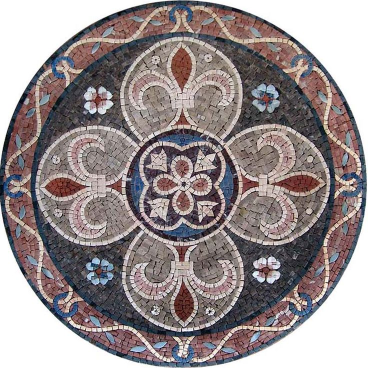 MD083 Marble Mosaic Medallion Tile