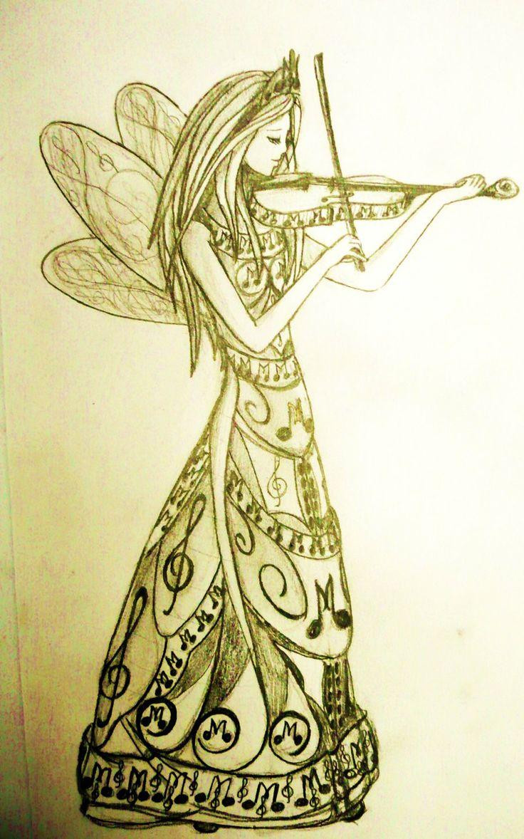 Violin_Fairy_by_Dark_Lunaticcat.jpg (900×1441)