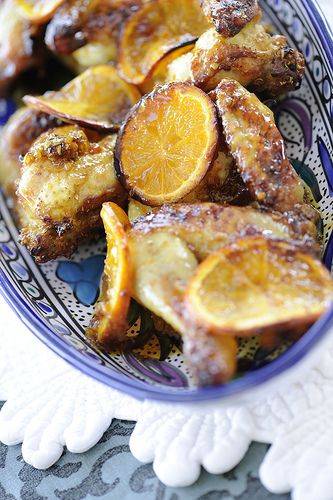 очень вкусная курица с апельсинами