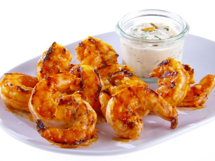 Buffalo Grilled Shrimp with Goat Cheese Dipping Sauce recipe from Giada De Laurentiis via Food Network