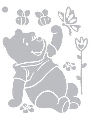 Samolepící šablona Medvídek Pú M | Medvídek Pú