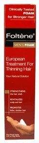 Foltene Pharma European Revitlizing Treatment for Thinning Hair Men's Foam by Foltene. $5.34. Clinically tested foam for stronger hair. Strengthens the hair shaft. Revitalizes scalp and hair. Promotes fuller, thicker hair.. This formulation, based on Tricosaccaride, Foltene's patented hair booster, strengthens fine, thinning hair and restores the natural balance of the scalp.. The revitalizing and nourishing complex, a balanced mixture of vitamins (B1, B5, B6, E, H, PP...