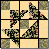 Grandmother's Puzzle quilt block -- free
