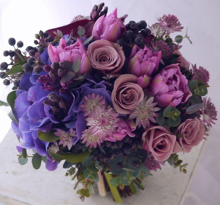 ブーケ チューリップ 紫の画像:一会 ウエディングの花
