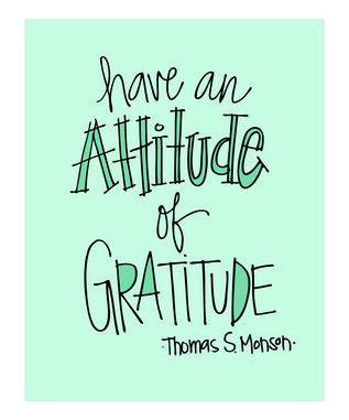 Have an Attitude of Gratitude!