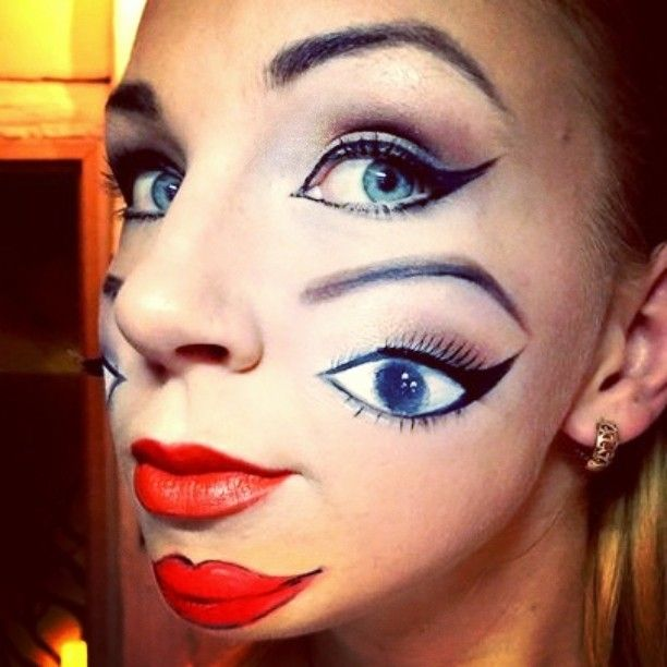 #illusion #makeup #double#face #crazy #freaky #facepainting #eyes #iseeyou