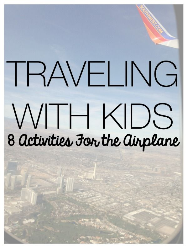 Traveling with Kids - 8 Activities for the Airplane! #travel #familytravel