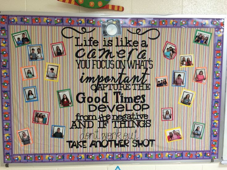Life is Like a Camera... Inspiring bulletin board