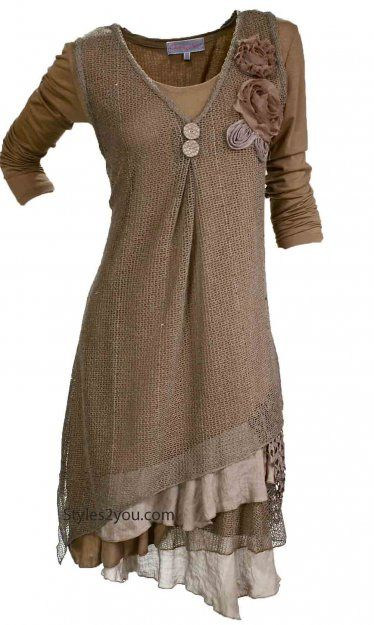 Pretty Angel Clothing Delilah Dress in Brown *88323BR
