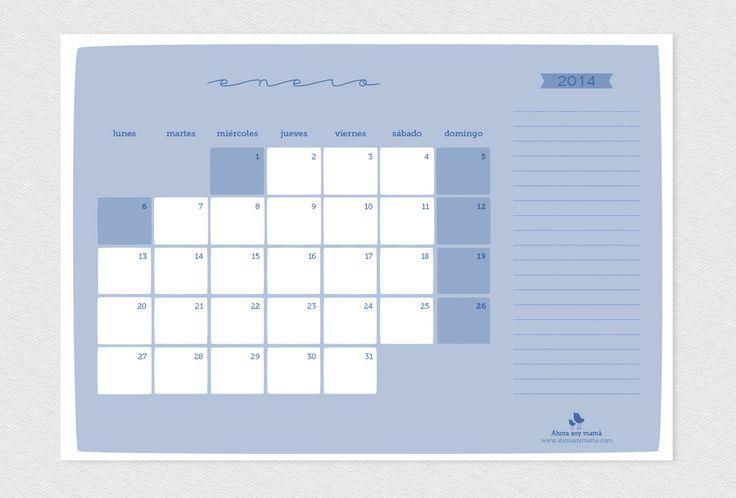 Calendarios de mesa 2014 todos los meses, uno por hoja.