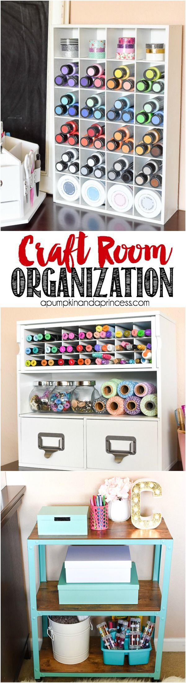 Craft closet storage - Craft Room Organization Ideas From Michaelsmakers A Pumpkin And A Princess