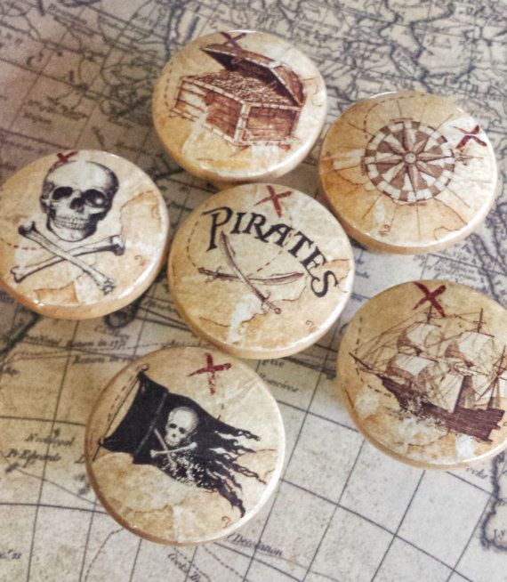 Pirate drawer knobs Pirates of the Caribbean Peter Pan Hook Neverland