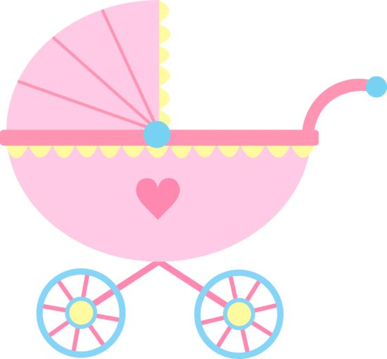 baby clipart girl cute pink baby carriage free clip art family rh pinterest com