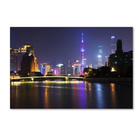Trademark Fine Art 'Night City' Canvas Art by Philippe Hugonnard
