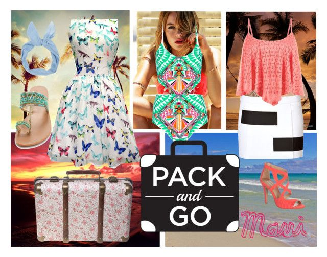 """""""#packandgo #hawaii #contest #oldschool #holiday #swimming #island #Maui #blue #coralpink #pink #coral #babyblue #onepiece #flats #heels #sandals #summer"""" by binklebonk ❤ liked on Polyvore featuring Seafolly, Star Mela, Mara Hoffman, Kenzo and Jane Norman"""