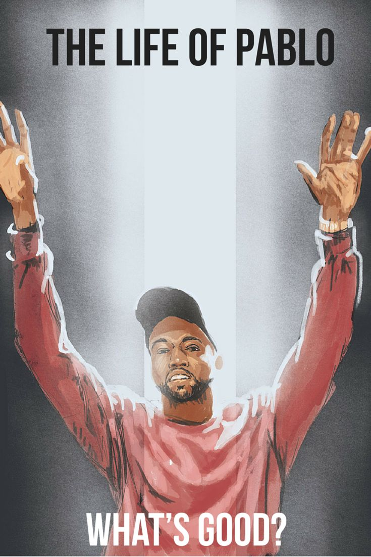 Hip Hop rapper Kanye West aka Yeezy as Pablo Picasso! Ultralight Beam. The Life of Pablo. Music