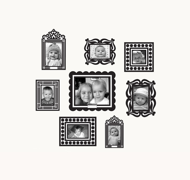 black picture frames on shelves - Google Search