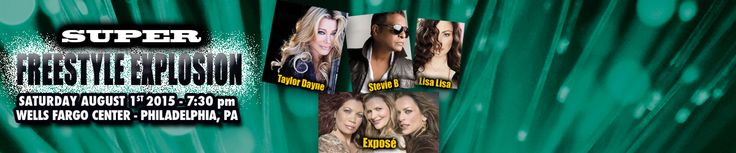 "The biggest names in freestyle music, including multi-platinum recording artist Taylor Dayne, The King of Freestyle Stevie B. and The Queen of Freestyle Lisa Lisa collaborate to perform popular rhythmic dance hits during the ""Super Freestyle Explosion"" at Wells Fargo Center on Saturday, August 1. The tour also includes pop group Exposé, R&B groups Nu Shooz and J.J. Fad and freestyle artists Shannon, Debbie Deb, George Lamond, Johnny O and Cynthia."