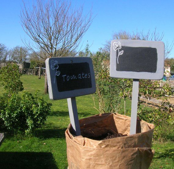 Etiquettes De Jardin Facon Ardoise Par Lot De 4 Etiquettes Etsy Etiquette Jardin Etsy Idees Cadeaux