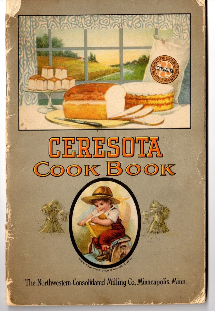 Vintage Ceresota Flour cookbook circa 1920's. It is in fair condition. The cover is quite worn but all the 44 pages are in tact. The edges of some of the pages are a little dog eared and folded at som
