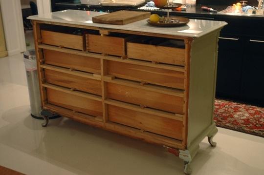 Turn A Dresser Into A Kitchen Island: Dresser As Kitchen Island!