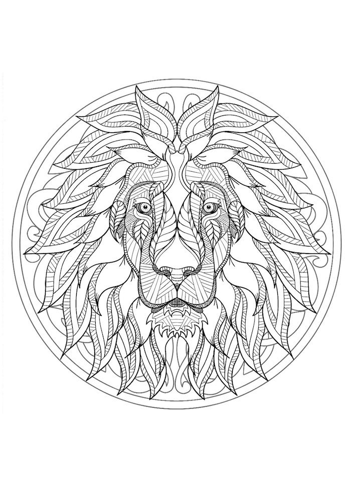 1001 Coole Mandalas Zum Ausdrucken Und Ausmalen Coole Ausmalbilder Ausmalen Mandala Tiere