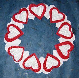 Bricolage de no l couronne de l avent en carton plume et - Pinterest bricolage st valentin ...
