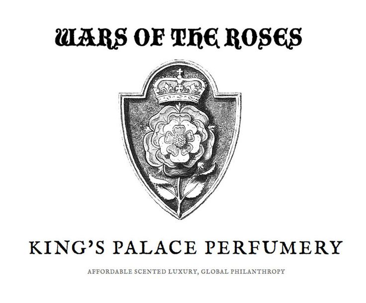 Wars of the Roses by King`s Palace Perfumery. Lapsang Souchang, roses, and leather. Intense, smoky, and different.
