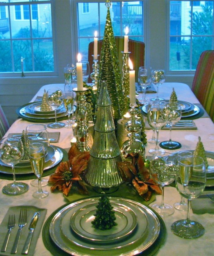 1192 Best Christmas Table Decorations Images On Pinterest