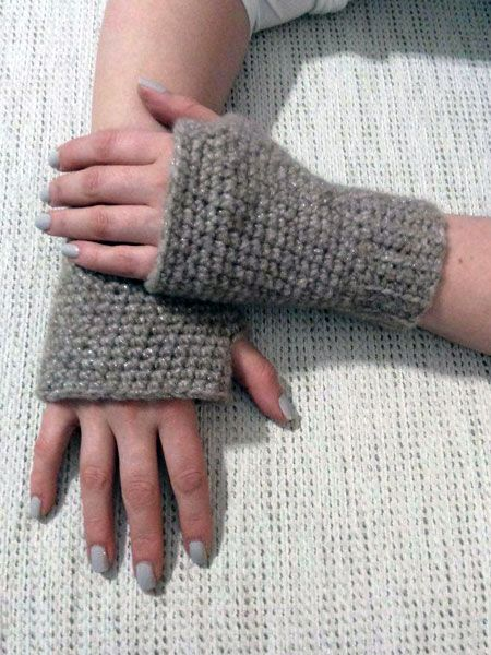 Γάντια χωρίς δάχτυλα της Μ. Σεμινάριο Πλέξιμο με Βελονάκι Γ΄Κύκλος.