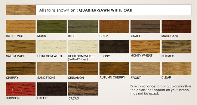 Quater Sawn White Oak Stain Options Things I Like