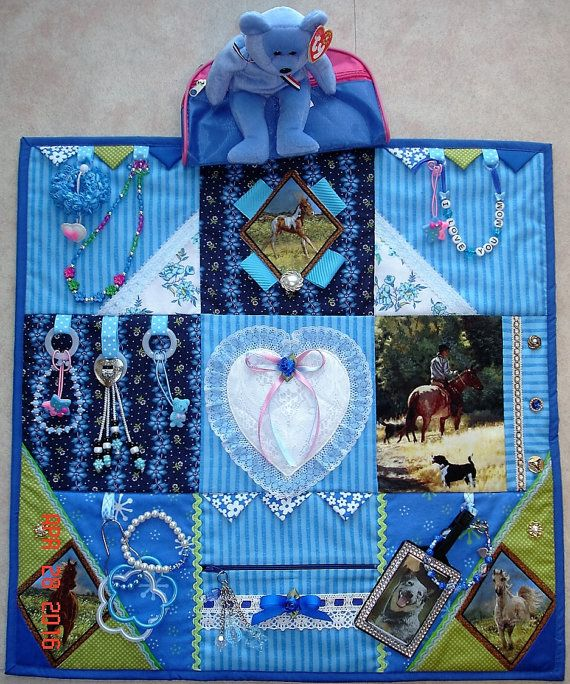TO BE MADE Horse, dog, Fidget Activity Tactile Sensory Quilt Blanket for…