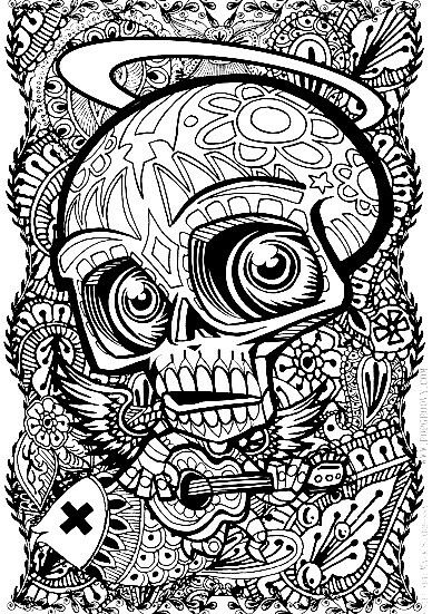 Pin By Joylene Robbins On Coloring Skull Coloring Pages