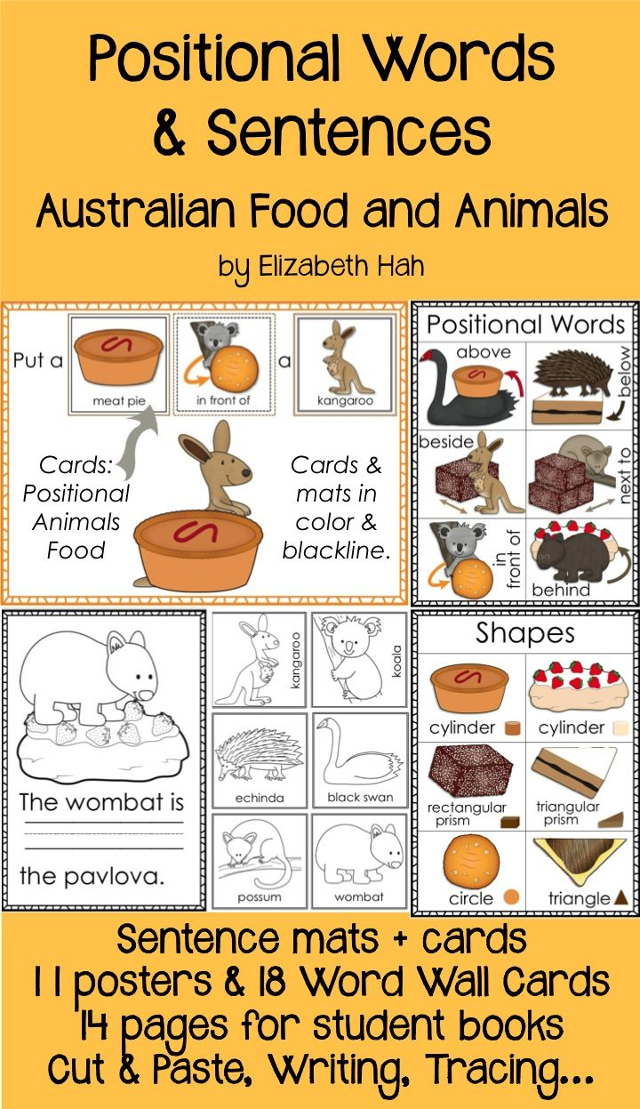 Need to teach prepositions? This beautiful practical pack will help. 65 pages. $ #positionalwords #prepositions #Australia #kindergartengeometry