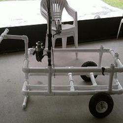 86 best diy pvc projects images on pinterest for Pvc fishing cart