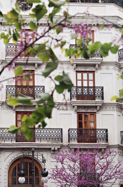 Los balcones de Valencia, España.