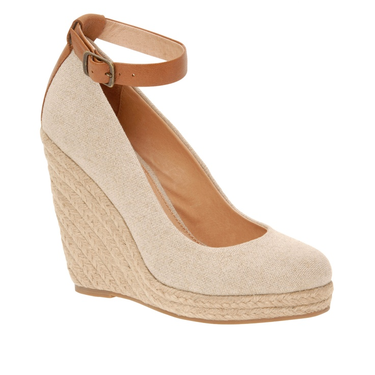 Super cute wedges for spring - love the ankle strap detail and nude color